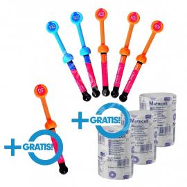 GC Gradia Direct 5x strzyk. dowolny kolor + 1x strzykawka w dowolnym kolorze + 3x wata celulozowa w zwoju 150g