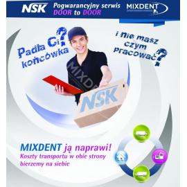Serwis NSK - wkłady. Pogwarancyjny serwis Door to Door