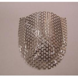 Siatka wzmacniająca srebrna perforowana górna - profilowana