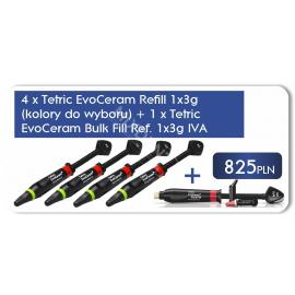 4 x Tetric EvoCeram 3g  + 1 x Tetric EvoCeram Bulk Fill 3 g IVA