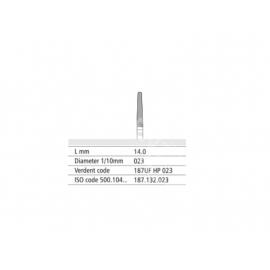 187 UF HP 023 Frez IQDENT z drobnymi spiralnymi nacięciami