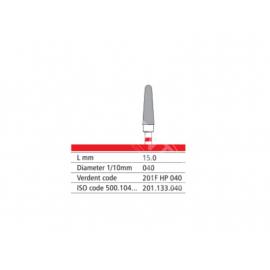 201F HP 040 Frez IQDENT z drobnymi prostymi nacięciami