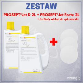 OCC Prosept Jet D 2L + Prosept Jet Forte 2L + 3 x Biały wkład do spluwaczki