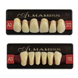 Zęby Wiedent Trójwarstwowe Almamiss kolor Vita
