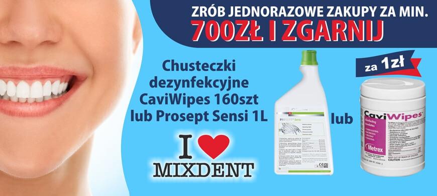 Promocja MIXDENT CaviWipes lub Prosept Sensi 700PLN