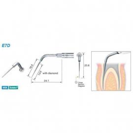E7D - Końcówka do endodoncji z nasypem diamentowym