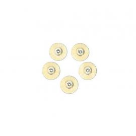 Szczoteczka biała okrągła - miękka, bez mandryli