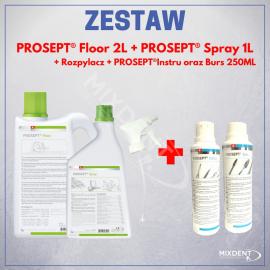 OCC Prosept Floor 2L + Prosept Floor 1L + Prosept Instru 250ml + Prosept Burs 250ml