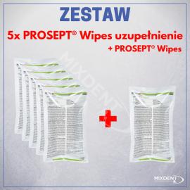 5 x Chusteczki OCC Prosept Wipes uzupełnienie + 1 x Prosept Wipes uzupełnienie 120szt.
