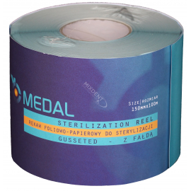 Rękaw do sterylizacji z fałdą MEDAL 15cm x 100m