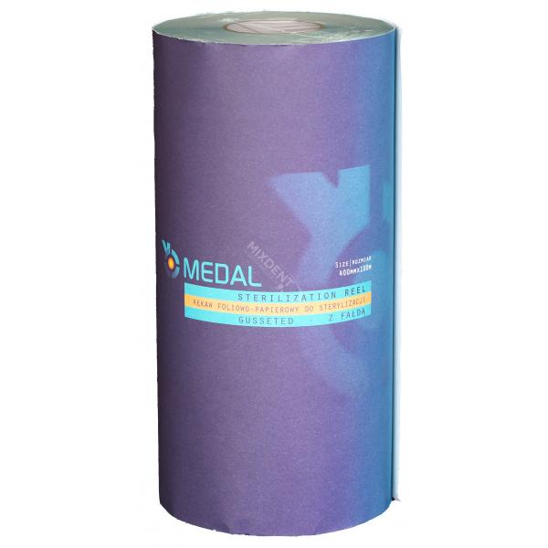 Rękaw do sterylizacji z fałdą MEDAL 40cm x 100m