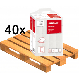 40 x Ręczniki papierowe Katrin Classic składane ZZ 2 (Zig Zag 2) 20 x 200szt HANDY PACK